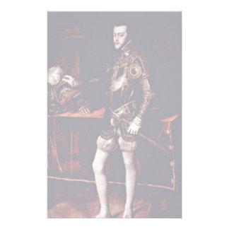 Retrato de Philip Ii por Tizian la mejor calidad Papeleria Personalizada