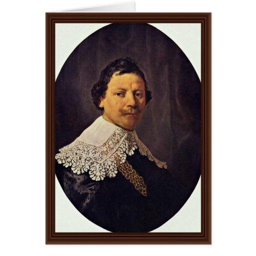 Retrato de Philips Lukasz de Rembrandt Felicitacion