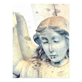 Retrato de piedra del ángel postales