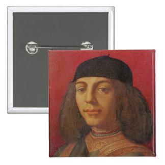 Retrato de Piero di Lorenzo de Medici Pin Cuadrado