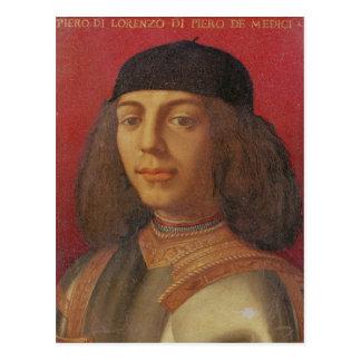 Retrato de Piero di Lorenzo de Medici Postal