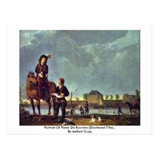 Retrato de Pieter De Roovere By Aelbert Cuyp Tarjetas Postales