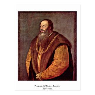 Retrato de Pietro Aretino Por Titian Tarjetas Postales