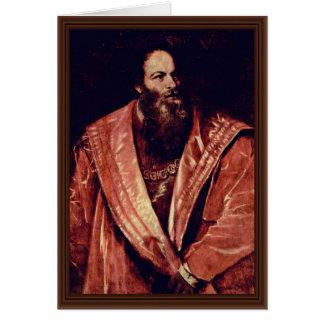 Retrato de Pietro Aretino. Por Tizian Tarjeta De Felicitación