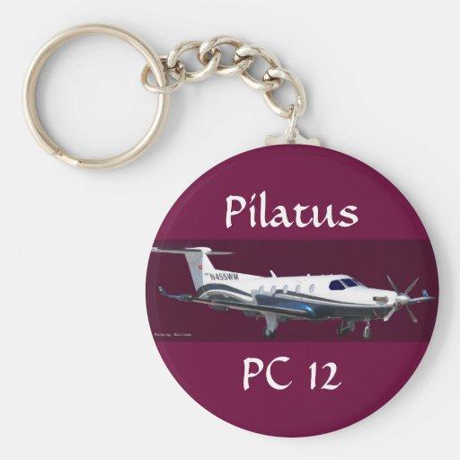 Retrato de Pilatus PC-12, Pilatus, PC 12 Llaveros Personalizados