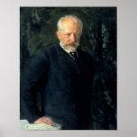 Retrato de Piotr Ilyich Tchaikovsky Póster