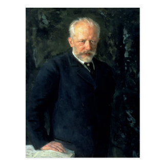Retrato de Piotr Ilyich Tchaikovsky Tarjetas Postales