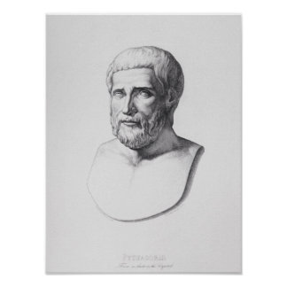 Retrato de Pitágoras Póster