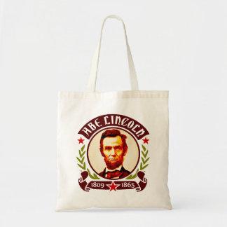 Retrato de presidente Abraham Lincoln Bolsas Lienzo