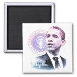 Retrato de presidente Barack Obama Imán Cuadrado