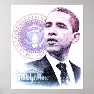 Retrato de presidente Barack Obama Póster