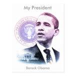 Retrato de presidente Barack Obama Tarjeta Postal