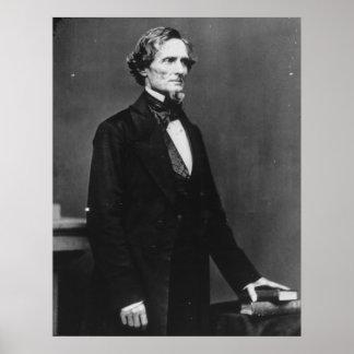 Retrato de presidente confederado Jefferson Davis Póster