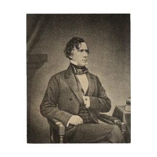 Retrato de presidente Franklin Pierce por M Brady Cuadros De Madera