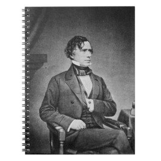 Retrato de presidente Franklin Pierce por M Brady Notebook