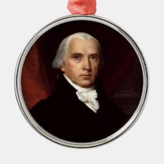 Retrato de presidente James Madison de Juan Adorno Redondo Plateado