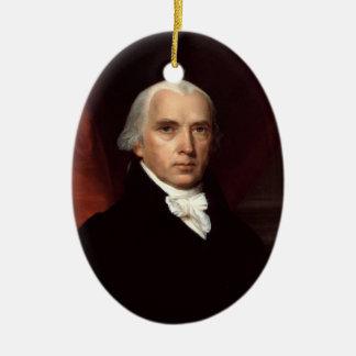 Retrato de presidente James Madison de Juan Adorno Ovalado De Cerámica