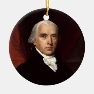 Retrato de presidente James Madison de Juan Adorno Redondo De Cerámica