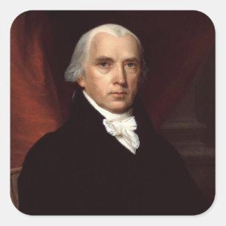 Retrato de presidente James Madison de Juan Pegatina Cuadrada