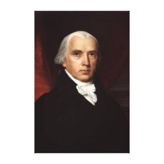 Retrato de presidente James Madison de Juan Vander Impresión De Lienzo