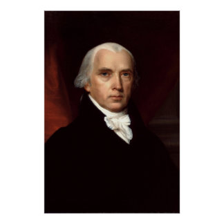 Retrato de presidente James Madison de Juan Vander Póster