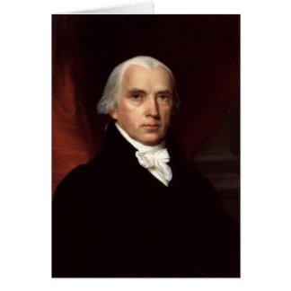 Retrato de presidente James Madison de Juan Vander Tarjeta De Felicitación