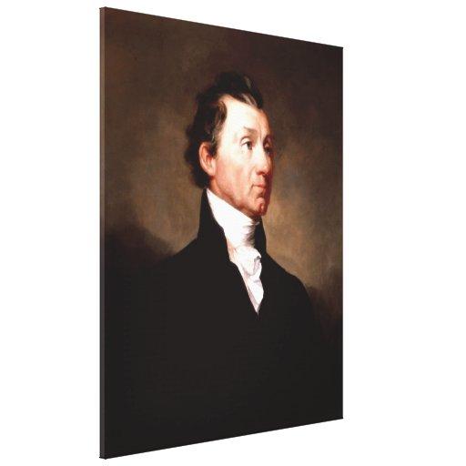 Retrato de presidente JAMES MONROE de Samuel Morse Lienzo Envuelto Para Galerías
