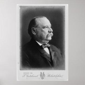 Retrato de presidente Stephen Grover Cleveland Impresiones