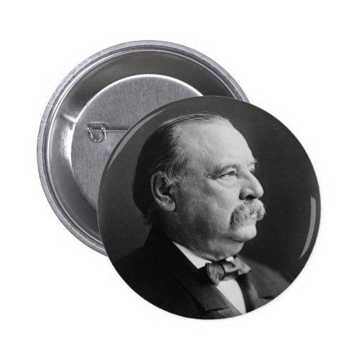 Retrato de presidente Stephen Grover Cleveland Pin Redondo 5 Cm