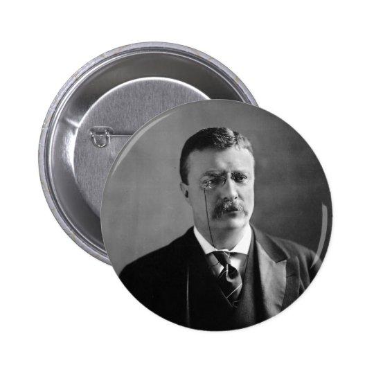 Retrato de presidente Theodore Roosevelt de los Pin Redondo De 2 Pulgadas