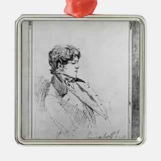 Retrato de Prince Otto Von Bismarck, 1834 Adorno Navideño Cuadrado De Metal