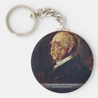 Retrato de Prince Otto Von Bismarck Llavero Redondo Tipo Pin