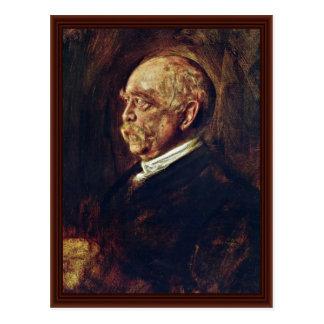 Retrato de Prince Otto Von Bismarck Tarjeta Postal