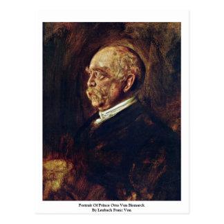 Retrato de Prince Otto Von Bismarck Postales