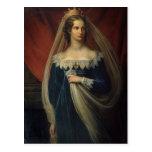 Retrato de princesa Charlotte von Preussen Postal