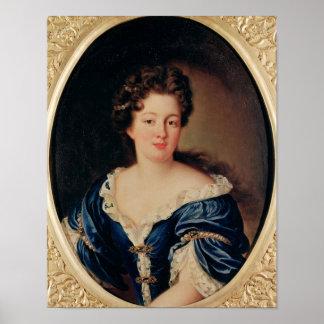 Retrato de princesa Colonna de Marie-Anne Mancini Posters