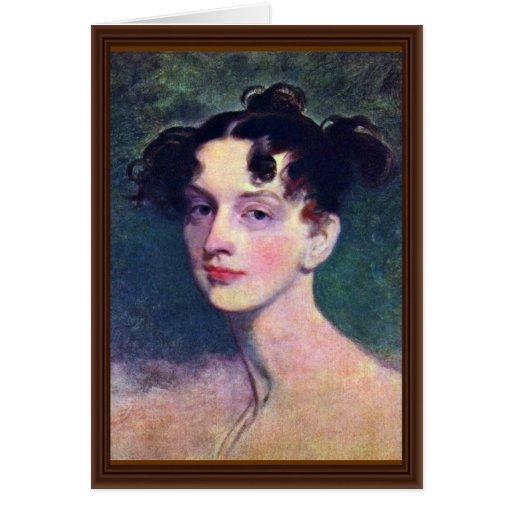 Retrato de princesa Lieven By sir Thomas Tarjeta De Felicitación