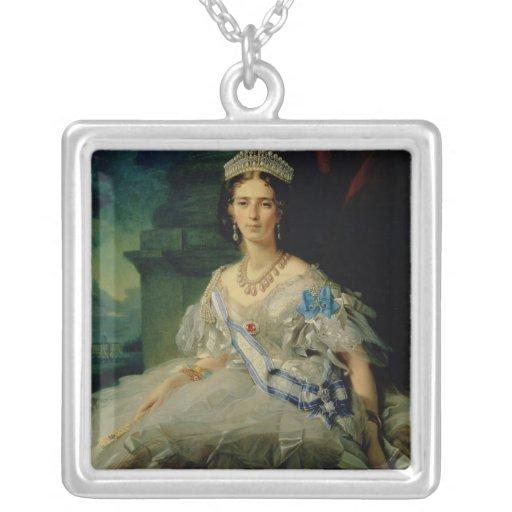 Retrato de princesa Tatiana Alexanrovna Colgante Cuadrado