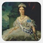 Retrato de princesa Tatiana Alexanrovna Pegatina Cuadrada