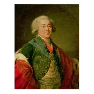 Retrato de príncipe Alexander Borisovich Kurakin Postal