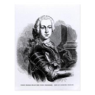 Retrato de príncipe Charles Edward Estuardo Tarjetas Postales