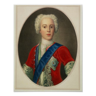 Retrato de príncipe Charles Edward Póster