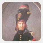 Retrato de príncipe Eugene de Beauharnais Pegatina Cuadrada