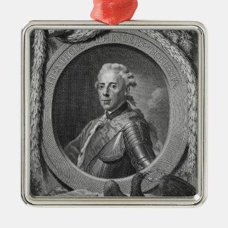 Retrato de príncipe Henry de Prusia, 1779 Adorno Navideño Cuadrado De Metal