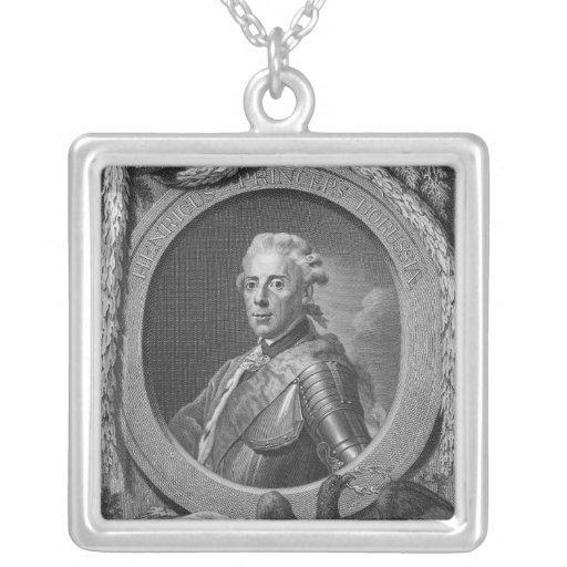 Retrato de príncipe Henry de Prusia, 1779 Colgante Cuadrado