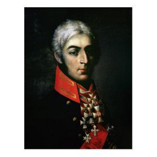 Retrato de príncipe Peter Bagration Tarjeta Postal