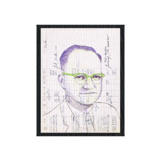 Retrato de radio de la cabeza #13 en el viejo lienzo envuelto para galerías