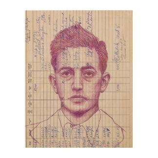 Retrato de radio del arte moderno de la cabeza #9 cuadro de madera