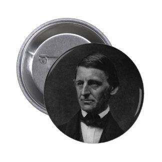 Retrato de Ralph Waldo Emerson en 1901 Pin Redondo De 2 Pulgadas