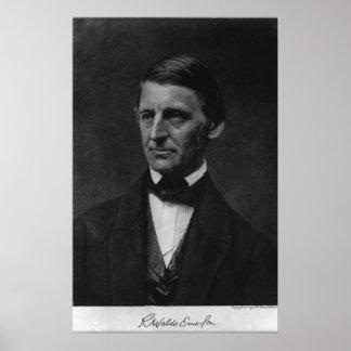 Retrato de Ralph Waldo Emerson en 1901 Póster